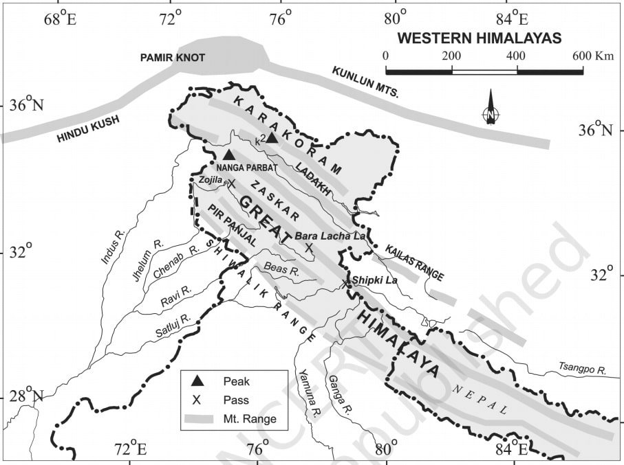 The Western Himalayas - Physical divisions of India