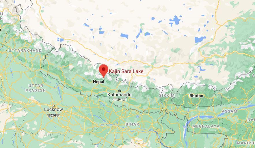 Kajin Sara Lake map